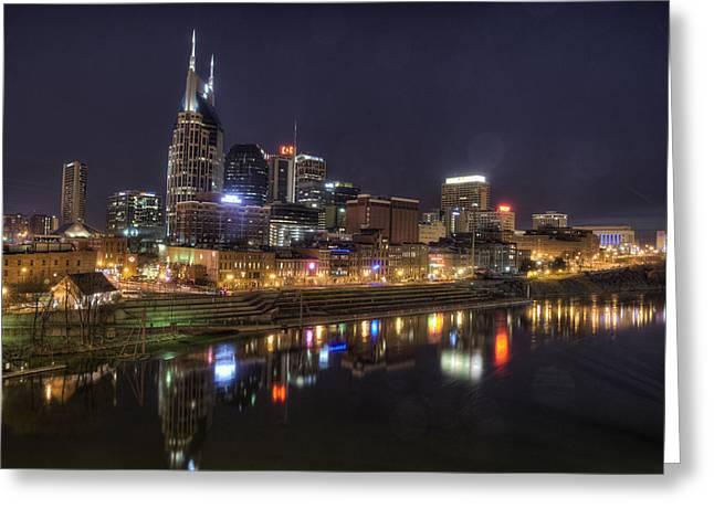 Nashville Greeting Cards - Nashville Skyline Greeting Card by Jim Pearson