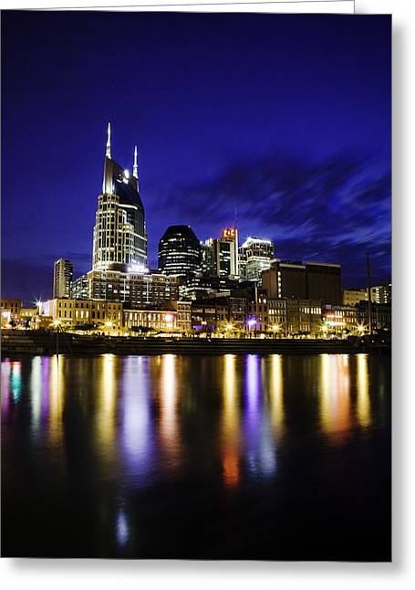 Nashville Tennessee Greeting Cards - Nashville Skyline Greeting Card by Lucas Foley