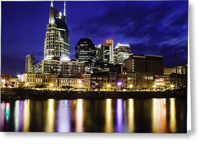 Nashville Skyline Greeting Card by Lucas Foley