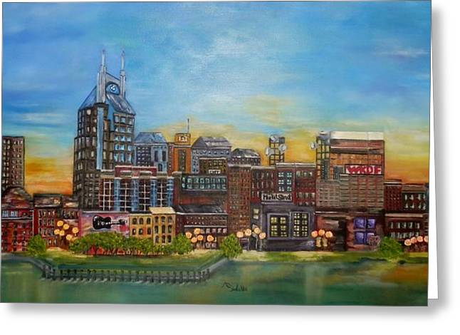 Nashville Tennessee Greeting Card by Annamarie Sidella-Felts
