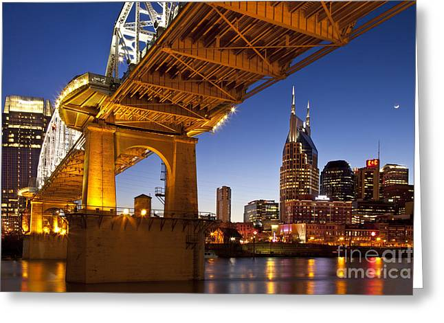 Nashville Downtown Greeting Cards - Nashville Tennessee Greeting Card by Brian Jannsen