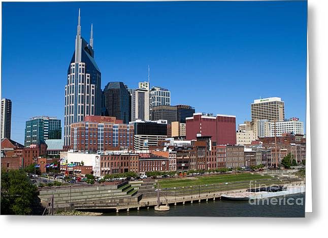 Nashville Tennessee Greeting Cards - Nashville Tennessee Skyline Greeting Card by Steven Frame