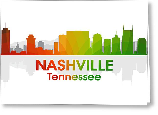 Industrial Icon Greeting Cards - Nashville TN Greeting Card by Angelina Vick
