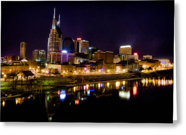 Nashville Tennessee Greeting Cards - Nashville TN Skyline Greeting Card by Jim Pearson
