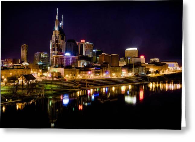 Nashville Greeting Cards - Nashville TN Skyline Greeting Card by Jim Pearson