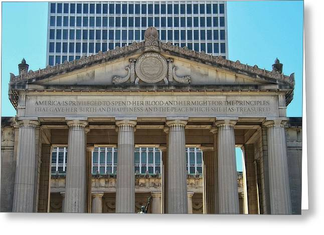 Nashville Tennessee Greeting Cards - Nashville War Memorial Auditorium Greeting Card by Dan Sproul