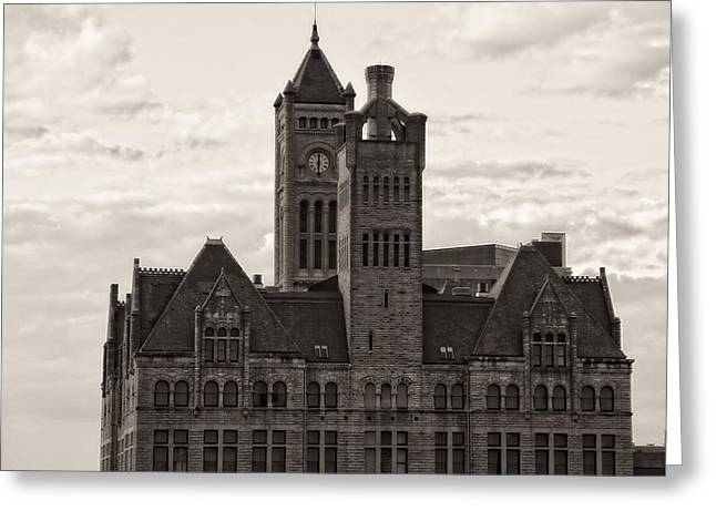 Union Station Building In Nashville Greeting Cards - Nashvilles Union Station Greeting Card by Dan Sproul