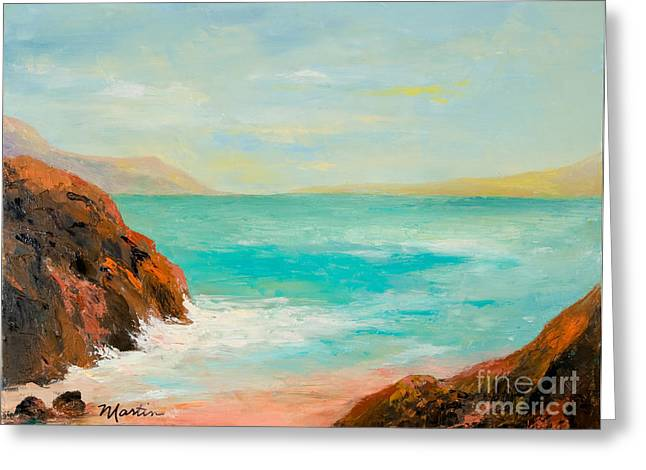 Ocean Landscape Greeting Cards - Nassau Afternoon Greeting Card by Larry Martin