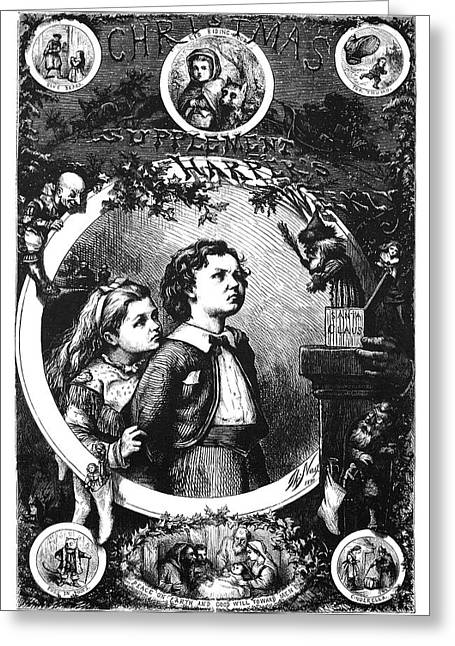 Nast Christmas, 1870 Greeting Card by Granger