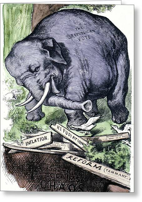 Nast Republican Elephant Greeting Card by Granger