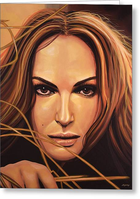 Thor Greeting Cards - Natalie Portman Greeting Card by Paul  Meijering