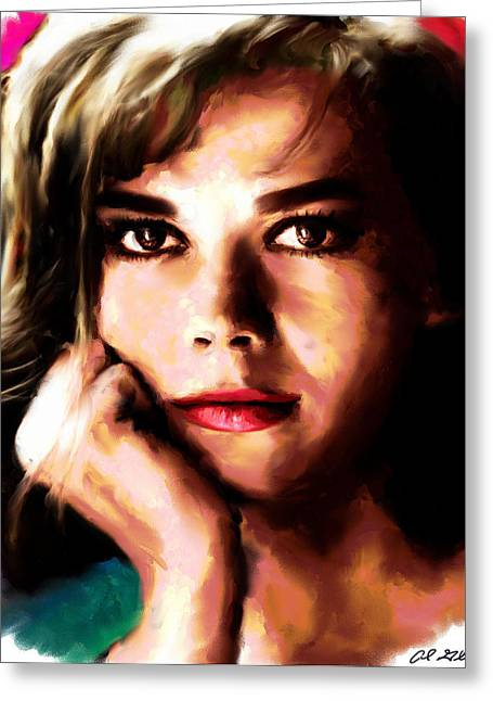Star Greeting Cards - Natalie Wood Greeting Card by Allen Glass