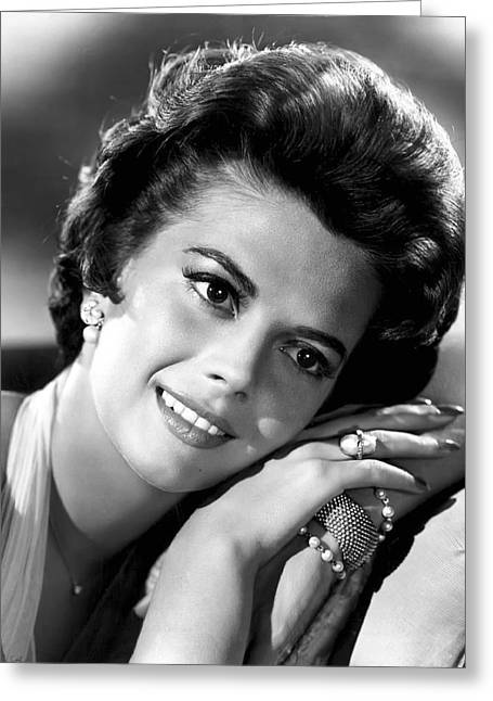 Academy Awards Oscars Greeting Cards - Natalie Wood Greeting Card by Daniel Hagerman