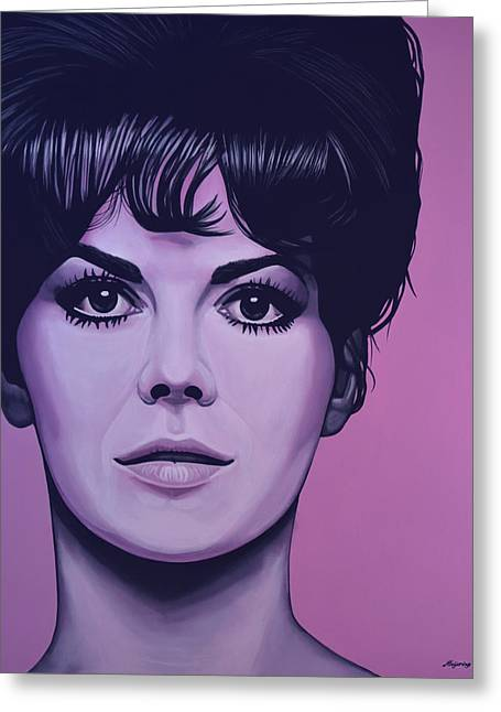 American Film Greeting Cards - Natalie Wood Greeting Card by Paul  Meijering