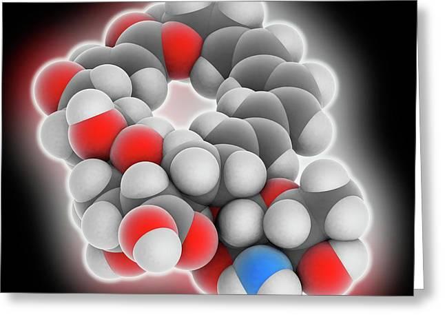 Natamycin Molecule Greeting Card by Laguna Design