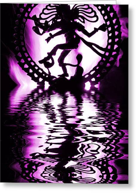 Burning Statue Greeting Cards - Nataraja The Lord of Dance Greeting Card by Tim Gainey