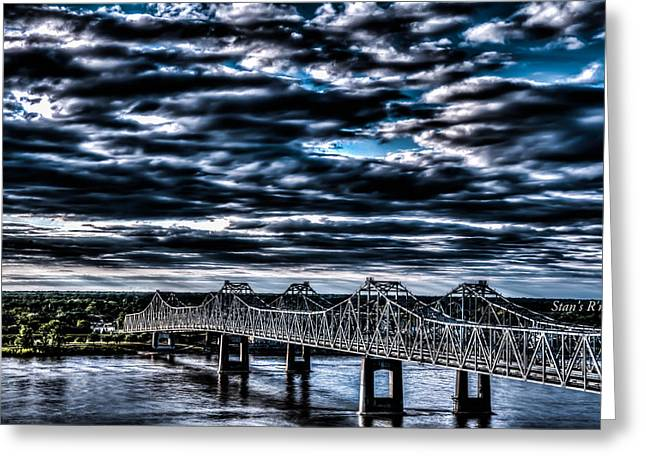 Natchez Bridge Greeting Card by Stan  Smith