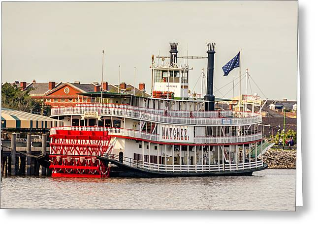 Steamboat Greeting Cards - Natchez Sternwheeler Greeting Card by Steve Harrington