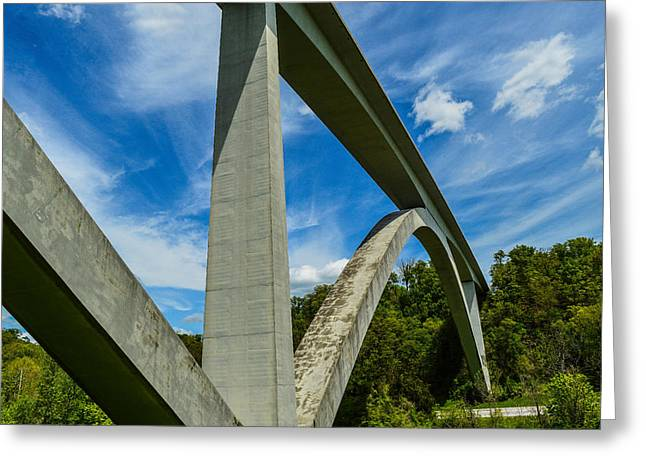 Natchez Trace Parkway Bridge Greeting Card by Julie Penney