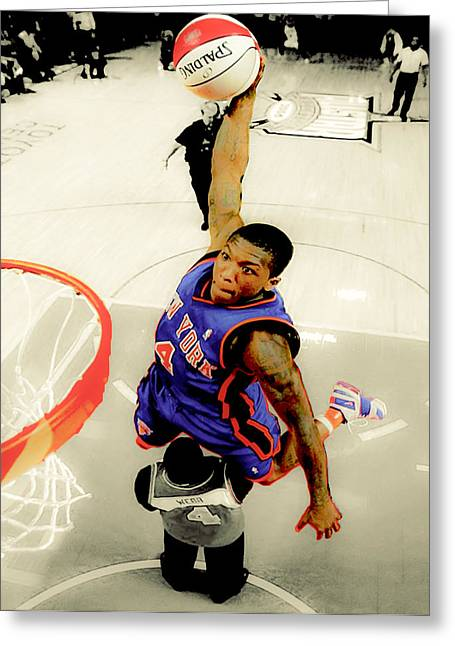 Nate Robinson Greeting Card by Brian Reaves