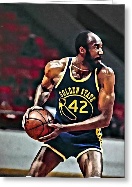 Chicago Bulls Greeting Cards - Nate Thurmond Greeting Card by Florian Rodarte