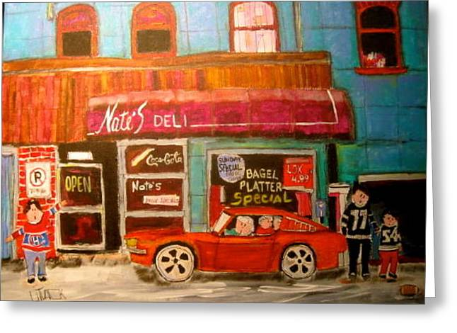 Litvack Greeting Cards - Nates Deli Ottawa Greeting Card by Michael Litvack