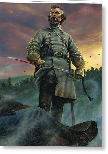 Recently Sold -  - Civil Greeting Cards - Nathan Bedford Forrest Greeting Card by Dan Nance