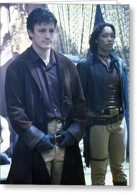 Nathans Greeting Cards - Nathan Fillion in Firefly  Greeting Card by Silver Screen