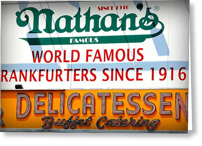 Nathan's Sign Greeting Card by Valentino Visentini