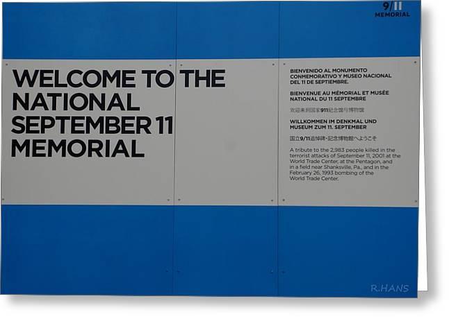 National 9/11 Memorial  Greeting Card by Rob Hans