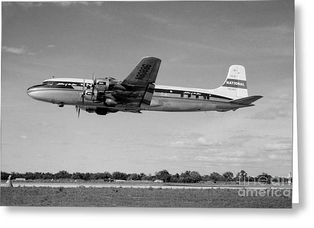 Fixed Wing Multi Engine Greeting Cards - National Airlines NAL Douglas DC-6 Greeting Card by Wernher Krutein