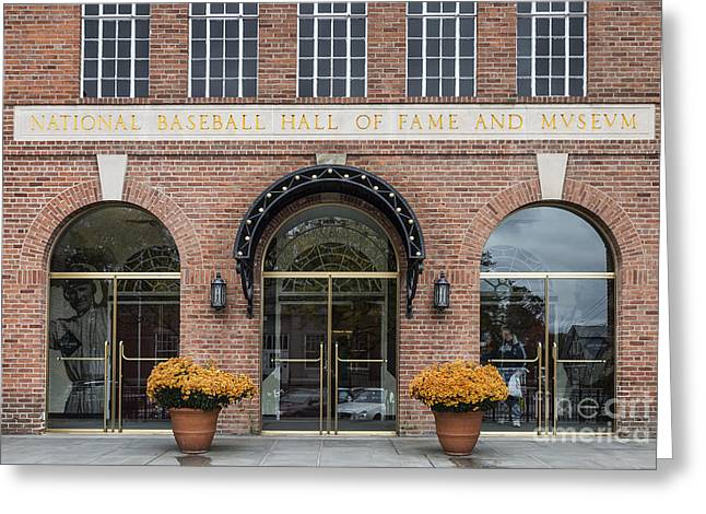 Cooperstown Greeting Cards - National Baseball Hall of Fame Greeting Card by John Greim