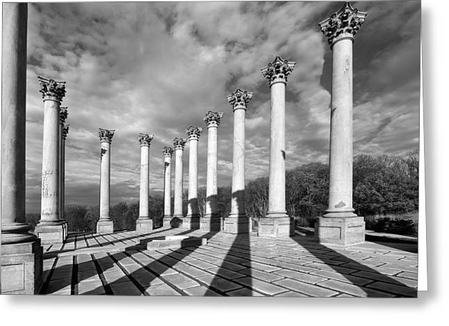 U.s. Capitol Greeting Cards - National Capitol Columns - Washington D.C. Greeting Card by Brendan Reals