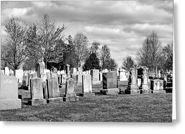 Civil War Site Photographs Greeting Cards - National Cemetery - Gettysburg Battlefield Greeting Card by Brendan Reals