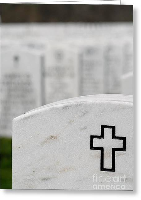Funeral Greeting Cards - National Cemetery of the Alleghenies Greeting Card by Amy Cicconi