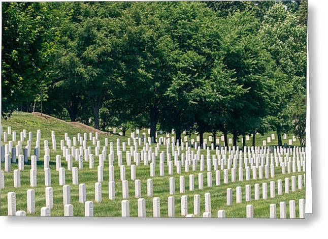 Arlington Greeting Cards - National Cemetery Greeting Card by Peter Verdnik