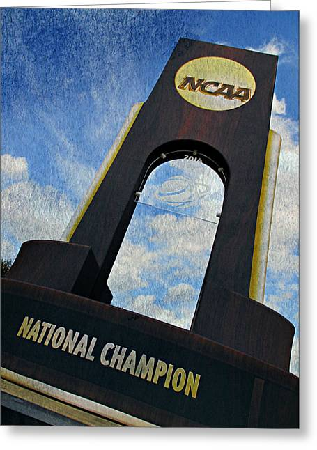 Huskies Greeting Cards - National Champions Greeting Card by Stephen Stookey
