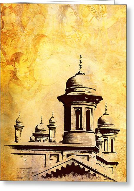 Akbar Shahjahan Greeting Cards - National College of Arts Lahore Greeting Card by Catf