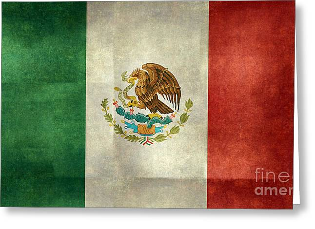 Snake Flag Greeting Cards - National flag of Mexico Greeting Card by Bruce Stanfield