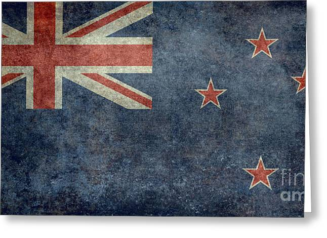 Maori Greeting Cards - National flag of New Zealand Retro vintage version to scale Greeting Card by Bruce Stanfield