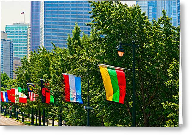 Franklin Greeting Cards - National Flags Of The Countries Greeting Card by Panoramic Images
