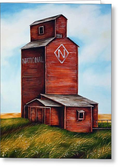 Saskatchewan Prairies Greeting Cards - National Greeting Card by Kristina Steinbring
