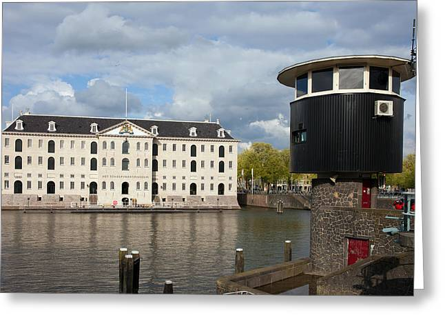 National Building Museum Greeting Cards - National Maritime Museum in Amsterdam Greeting Card by Artur Bogacki