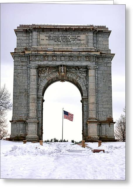 Dedicated Greeting Cards - National Memorial Arch Greeting Card by Olivier Le Queinec