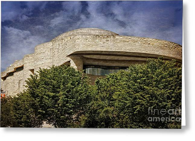 Curvilinear Greeting Cards - National Museum of the American Indian Greeting Card by Tom Gari Gallery-Three-Photography