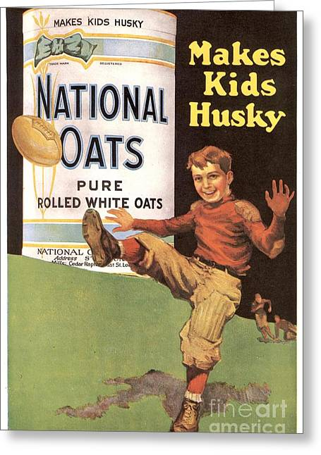 Twentieth Century Greeting Cards - National Oats 1920s Usa Cereals Greeting Card by The Advertising Archives