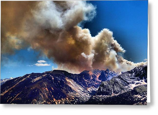 Colorado Wildfires Greeting Cards - National Park Fire Greeting Card by Dan Sproul