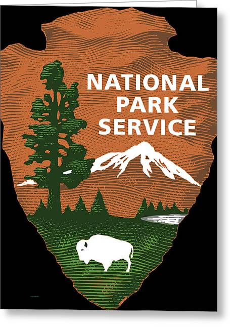 Snow Capped Greeting Cards - National Park Service Greeting Card by Bureau Of Land Management