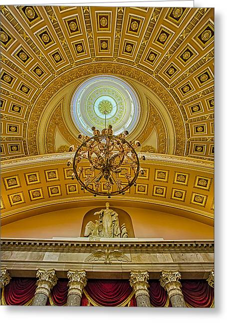 Us Senate Greeting Cards - National Statuary Hall Greeting Card by Susan Candelario