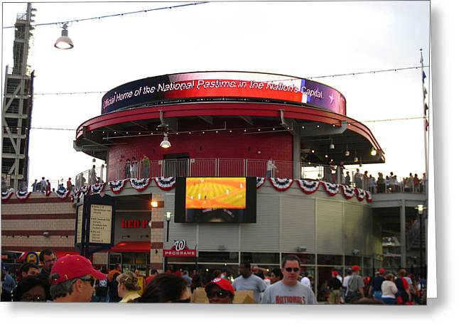 Washington Dc Baseball Greeting Cards - Nationals Park - 01131 Greeting Card by DC Photographer